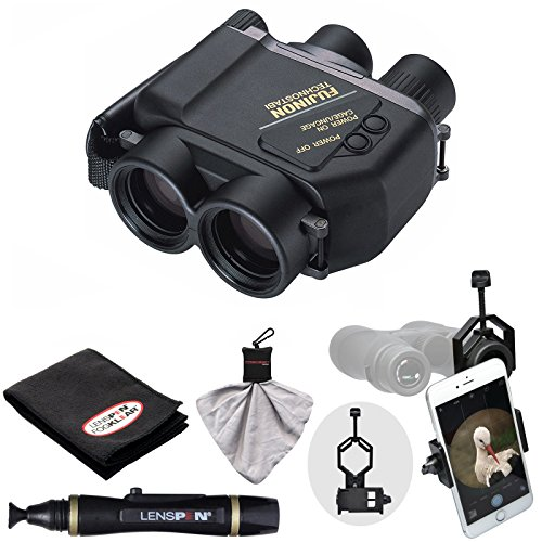 Fujifilm Fujinon Techno-Stabi TS1440 14×40 Image Stabilized Binoculars & Case with Smartphone Adapter + LensPen Cleaning Kit